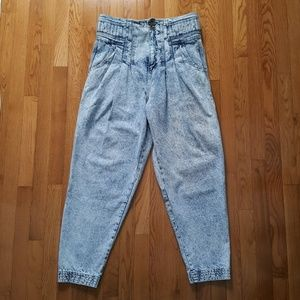 VINTAGE Super High Waist Acid Wash Jeans VTG 80's